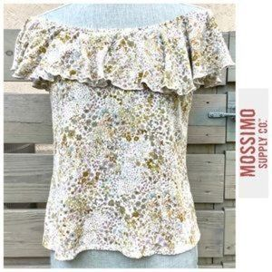 Mossimo Off the Shoulder Ruffled Floral Top